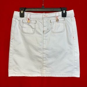 Tommy Hilfiger Women's White Denim Skirt Size 4